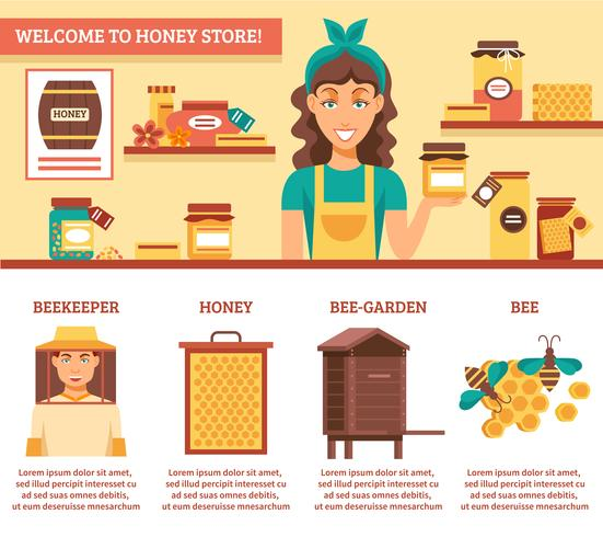 Biodling Honey Infographics vektor