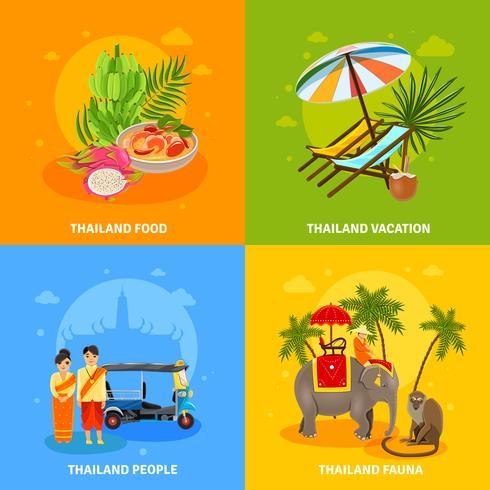 Set di concetto di Thailandia vettore