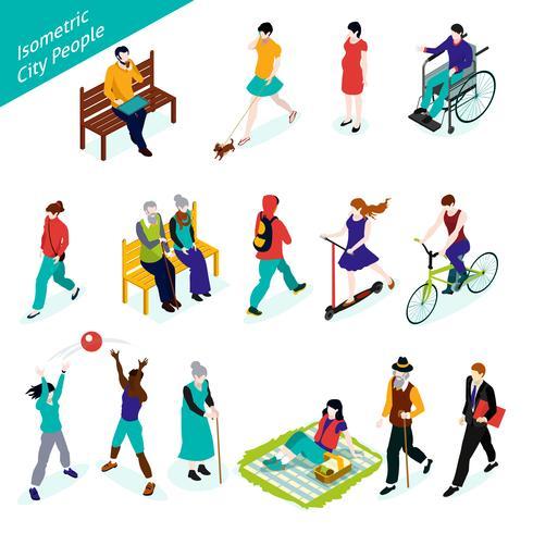 City People Isometric Set