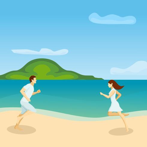 Lovers Running Poster