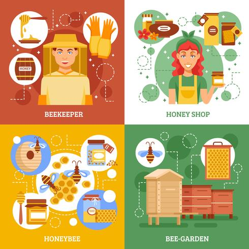 Concepto de diseño de la apicultura vector