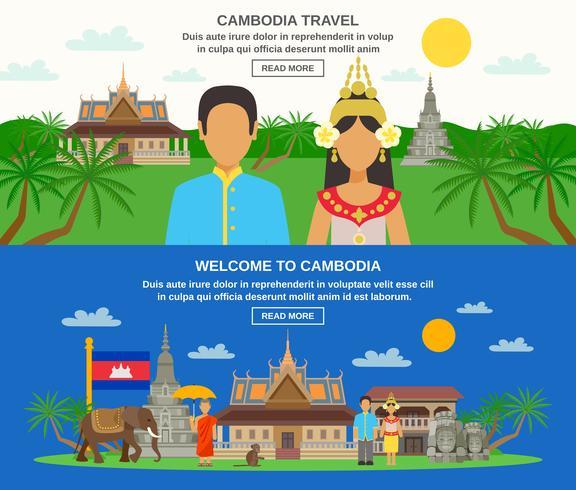 Kambodjansk kultur 2 Horisontell bannersats