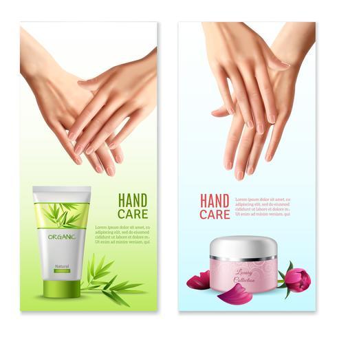 Natural Hand Cream 2 Realistic Banners vektor