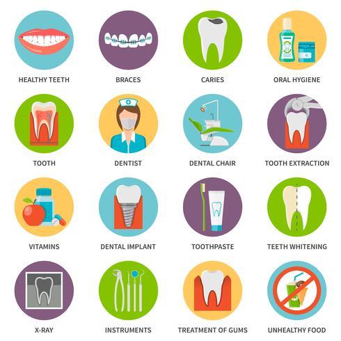 Zahnpflege Icons Set vektor
