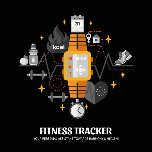 Fitness Tracker Illustration