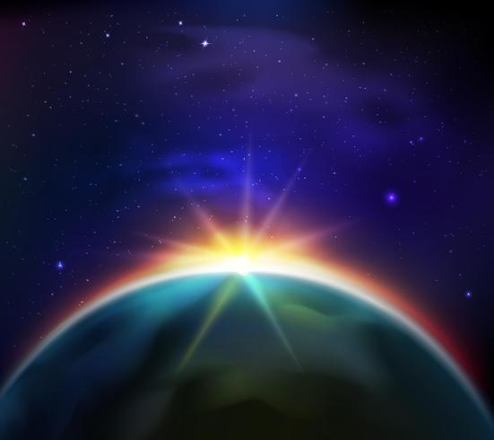 Space Sunrise Background