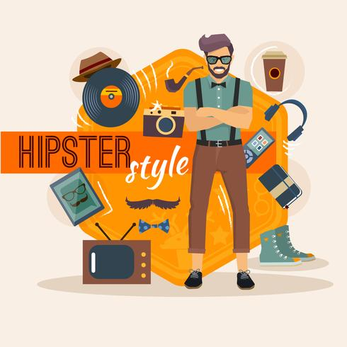 Pacchetto caratteri maschile Hipster