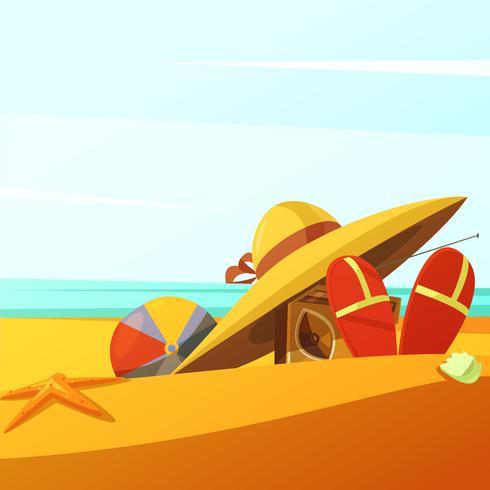 Praia usa ilustração