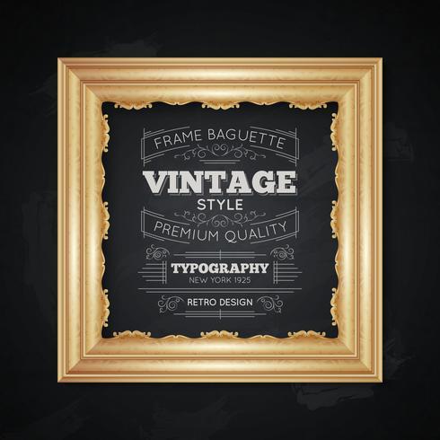 Vintage Frame Typography Illustration