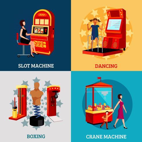 Concept de machine de jeu 2x2 vecteur
