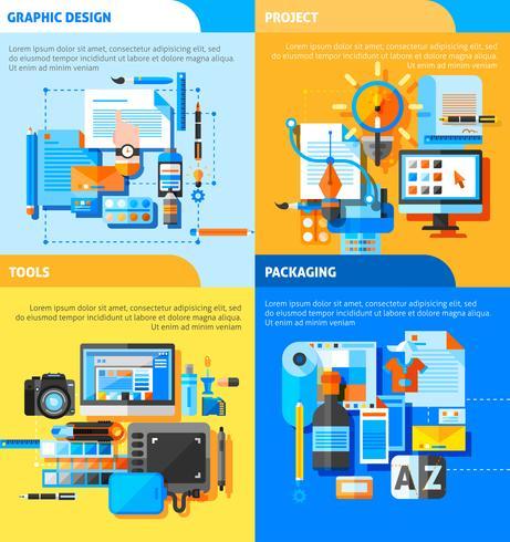 Set di icone di concetto di Graphic Design
