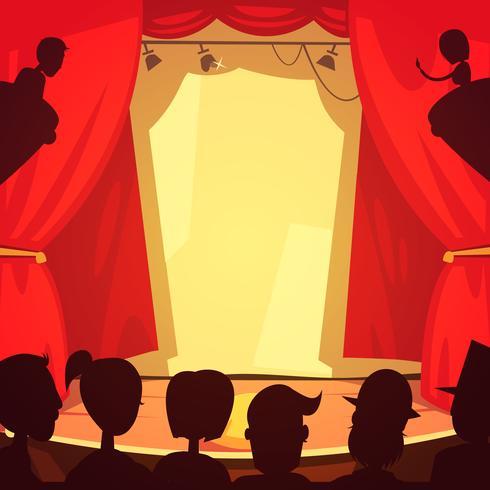 Ilustración de escena de teatro