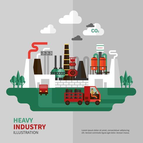 Ilustración de la industria pesada