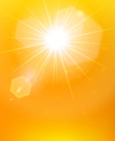 Sunshine background orange poster