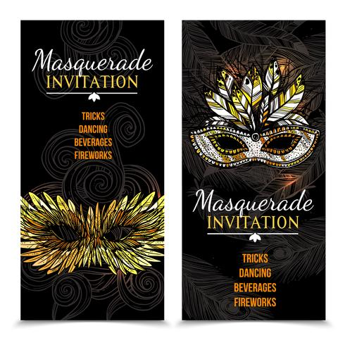 carnaval banners met maskerade