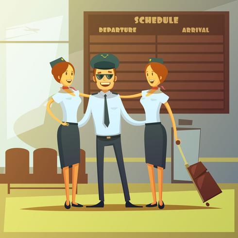 Ilustración de dibujos animados de líneas aéreas vector
