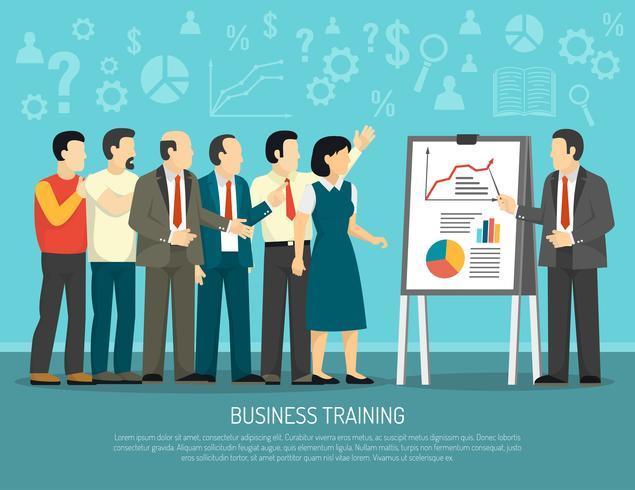 Business  Training Program Class Flat Illustration  vector