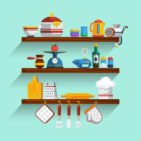 Kitchen Shelves Set