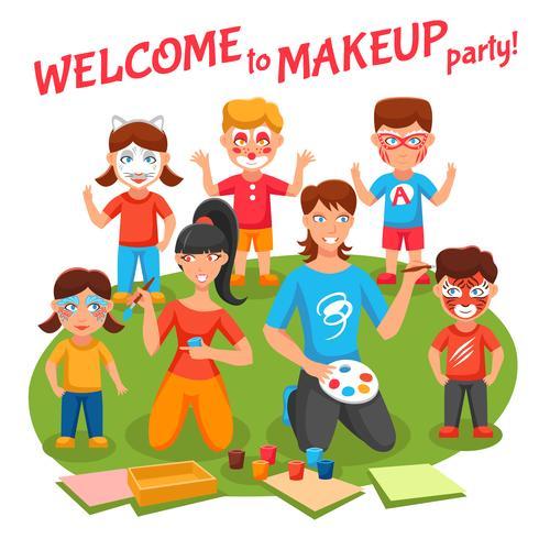 Ilustración de fiesta de maquillaje