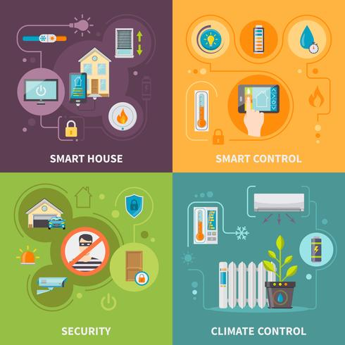Systems of Control I Smart House vektor
