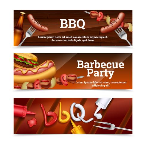Banner orizzontale di barbecue party