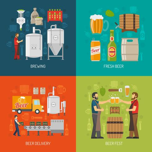 Brewery Concept Icons Set