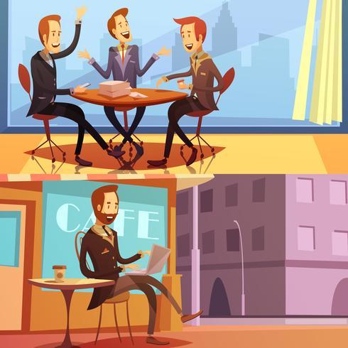 Ensemble de bannières homme d'affaires
