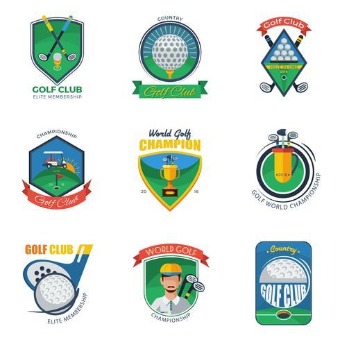 Golf Labels Set
