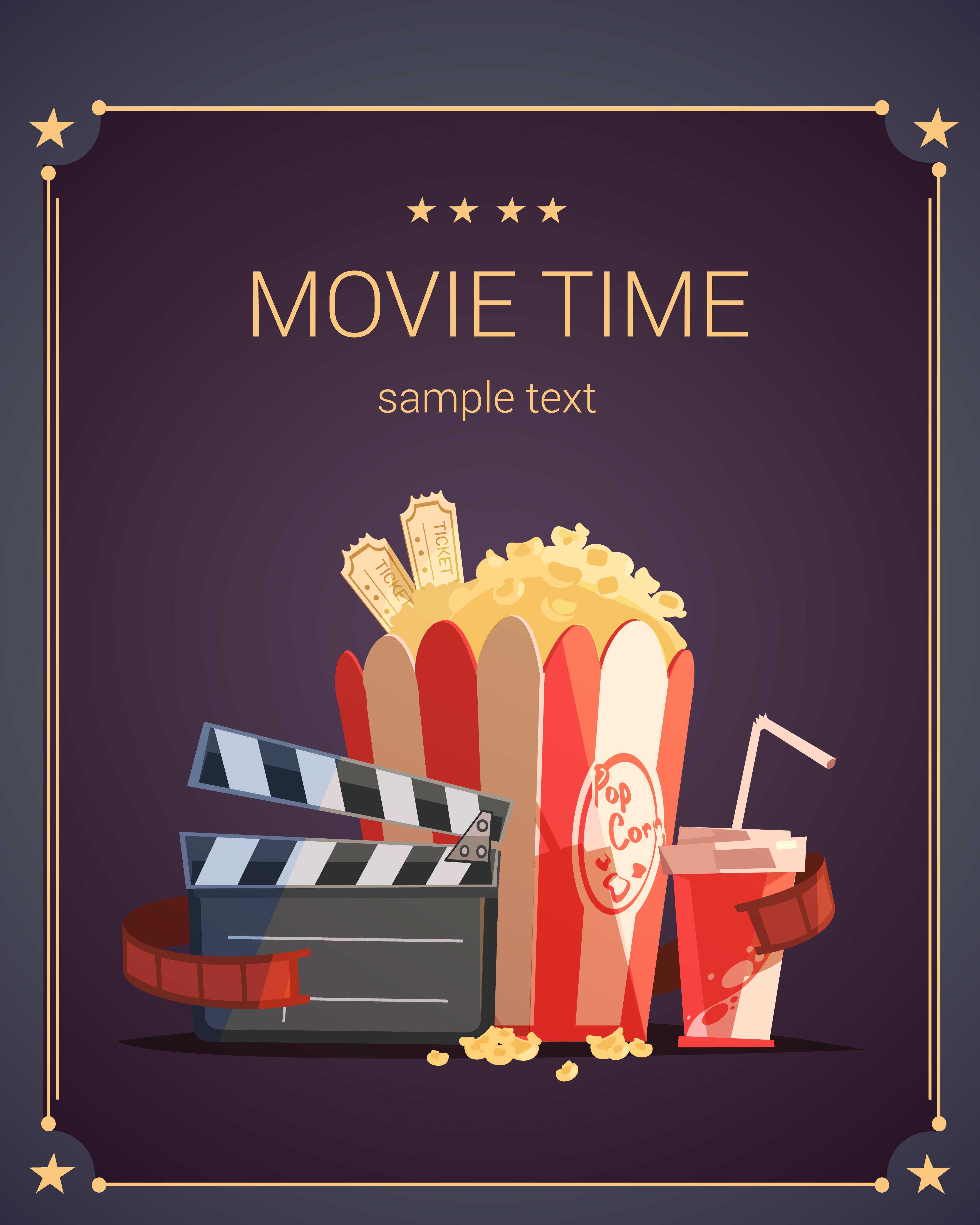 Cinema and Movie time Stock Vector Image & Art - Alamy