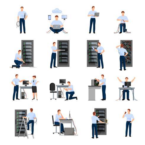 Conjunto de iconos de administrador del sistema