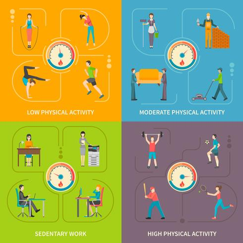 Physical Activity Flat Concept