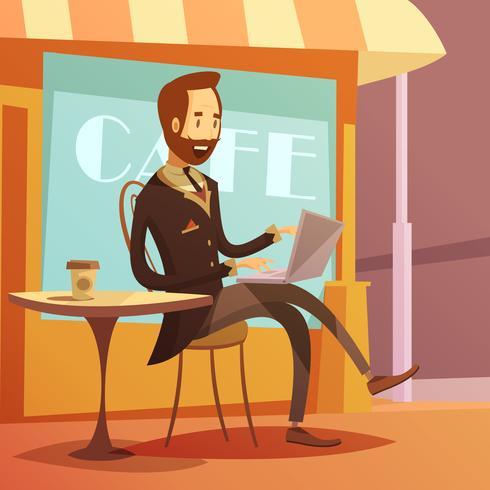 Empresario trabajando ilustración