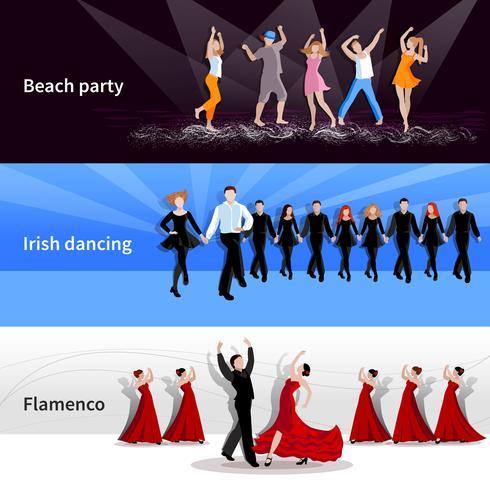 Tanzende Menschen Banner