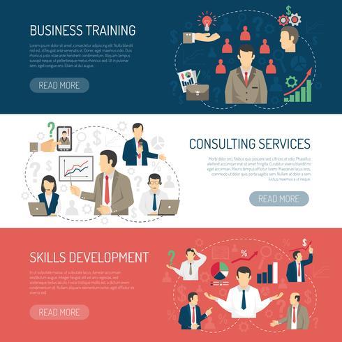Business Training Beratung Horizontale Banner Set