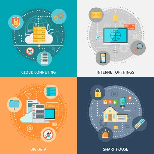 Sistemas eletrônicos para segurança e conveniência vetor