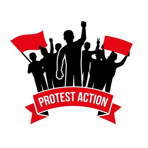 Protest Action Emblem vector