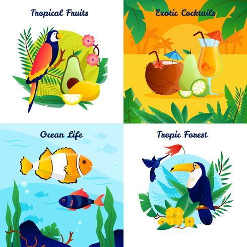 Tropisk Design Concept Set