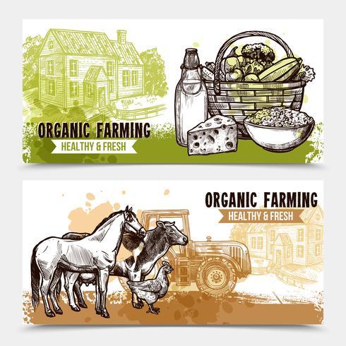 Bannières horizontales de ferme
