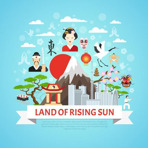 Japan Concept Achtergrond