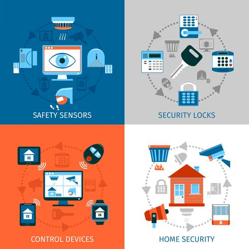 Home Safety Concept Icons Set