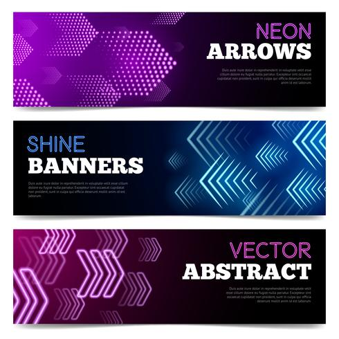Light Signboards Banners Set