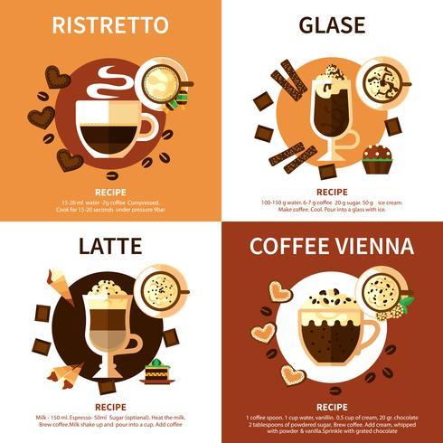 Kaffee 2x2 Design-Konzept