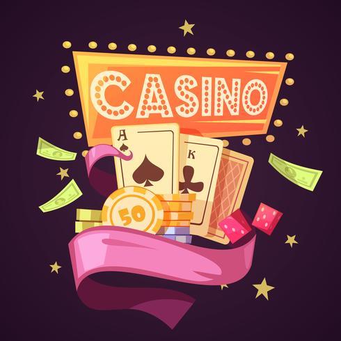 Ilustração Retro Dos Desenhos Animados Do Casino