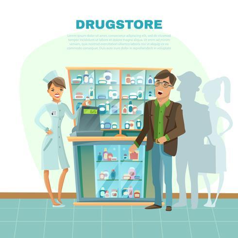 Illustrazione del fumetto della farmacia