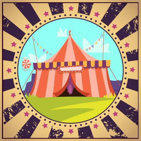 Cartel de circo de dibujos animados