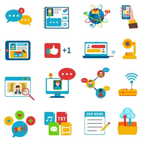 Set di icone di social network
