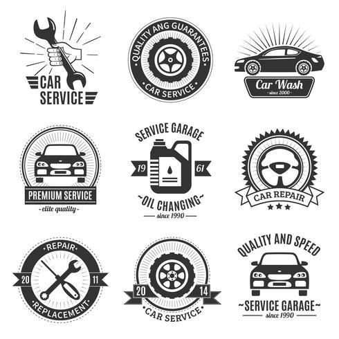 Auto Services Black White Emblems
