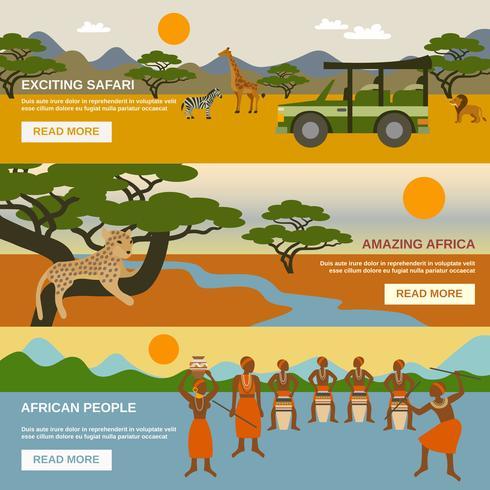 Afrika Banners Set vektor