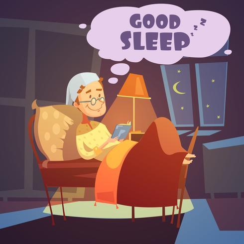 Boa ilustração do sono
