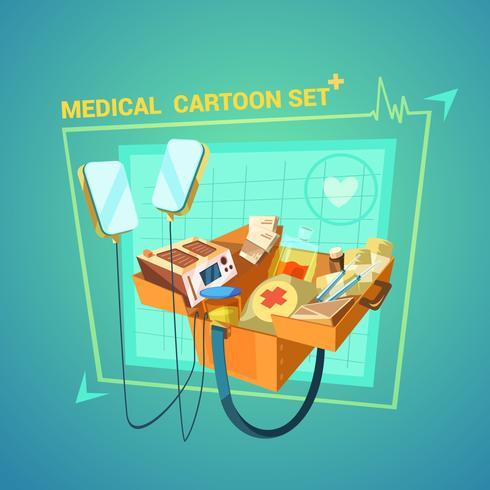 Medizinische Karikatur eingestellt